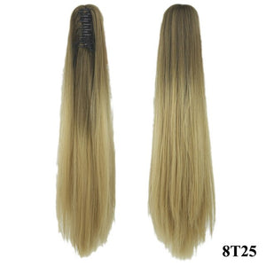 Soowee 60cm Long Straight Synthetic Hair Claw Ponytail