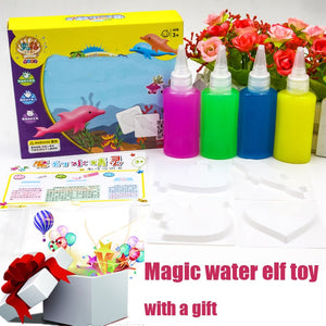 9pcs/set Newest Magic water drawing Colorful handmade DIY Toys