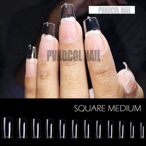 Gel X Nails Extension System Full Cover Sculpted Clear Stiletto Coffin False Nail Tips 240pcs/bag