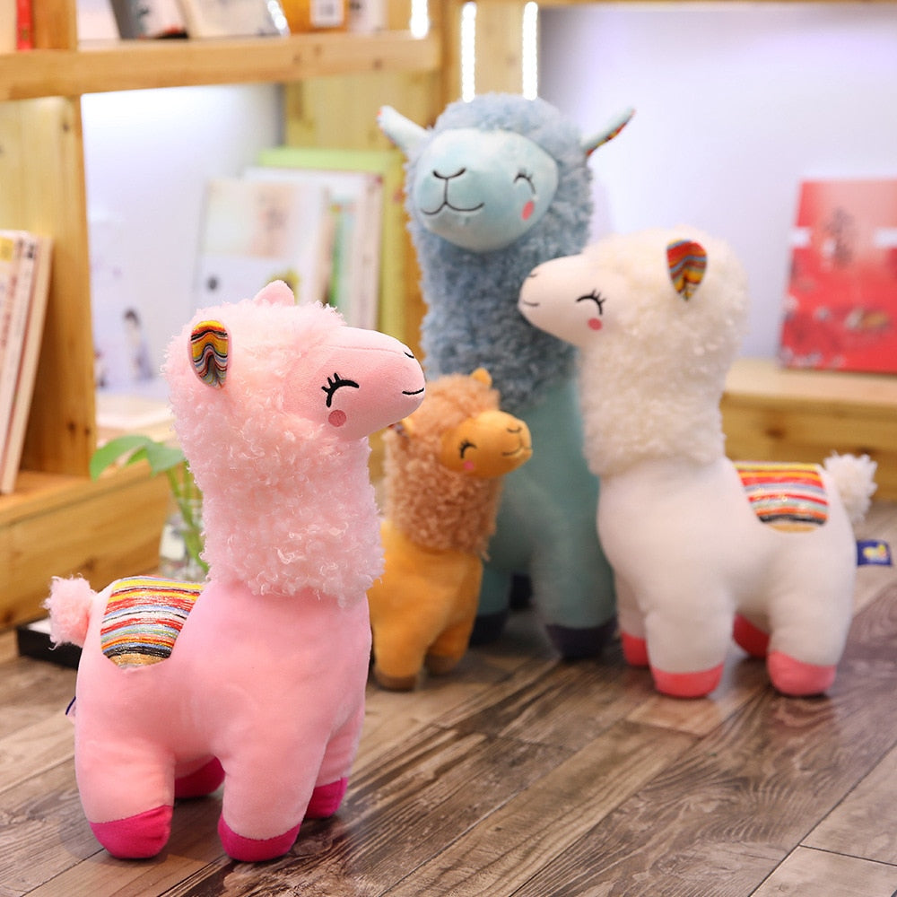 Lovely 25-45cm Alpaca Llama Plush Toy
