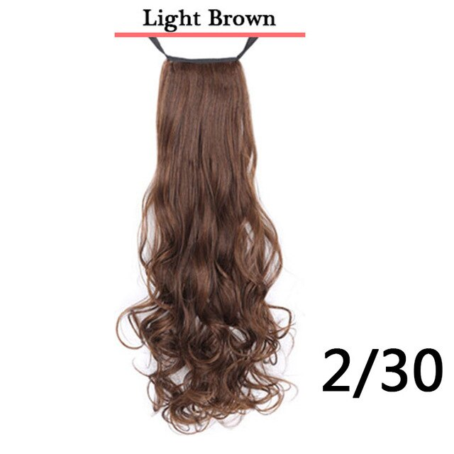 Natural Swing Clip In Curly Hair Extension Ponytail Wig Headwear