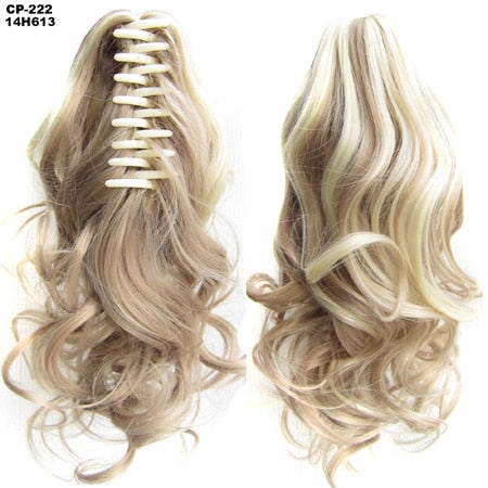 "Hair 90gr 14"" 35cm Wavy Claw Clip in/on Ponytail Hair Extensions"