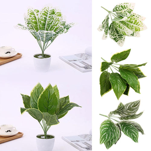 Plant Wall Decoration With Grass Simulation Leaves