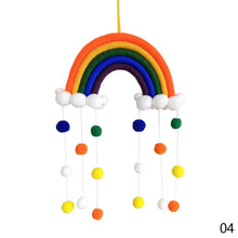 Load image into Gallery viewer, Ins Style Children's Room Decoration Pendant Rainbow Hanging Ribbon-5 Tassels With Hair Balls