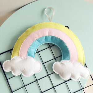 Children's Room Decoration Pendant Cloud Rainbow-Felt
