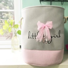 Load image into Gallery viewer, Ballet Shoes Bowknot Girl Canvas Storage Bucket Laundry Basket