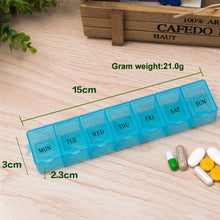 Load image into Gallery viewer, Transparent Storage Box Plastic 7 Compartments Portable Box