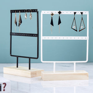 Wrought Iron Creative Earring Jewelry Storage Display Stand