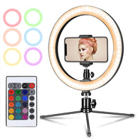 10 inch RGB LED Ring Light With Phone Holder