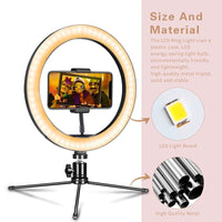 Remote Controlled 7 Inch Selfie Ring Light With Tripod