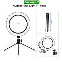 Studio Quality Selfie Ring With Tripod Stand