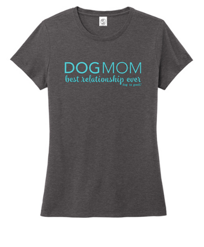 T-SHIRT: DOG MOM (HEATHER CHARCOAL)