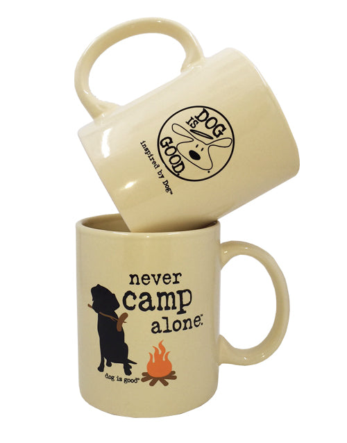 MUG: NEVER CAMP ALONE