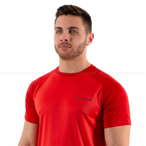 BABOLAT PLAY CREW T-SHIRT TENNIS TOMATO RED