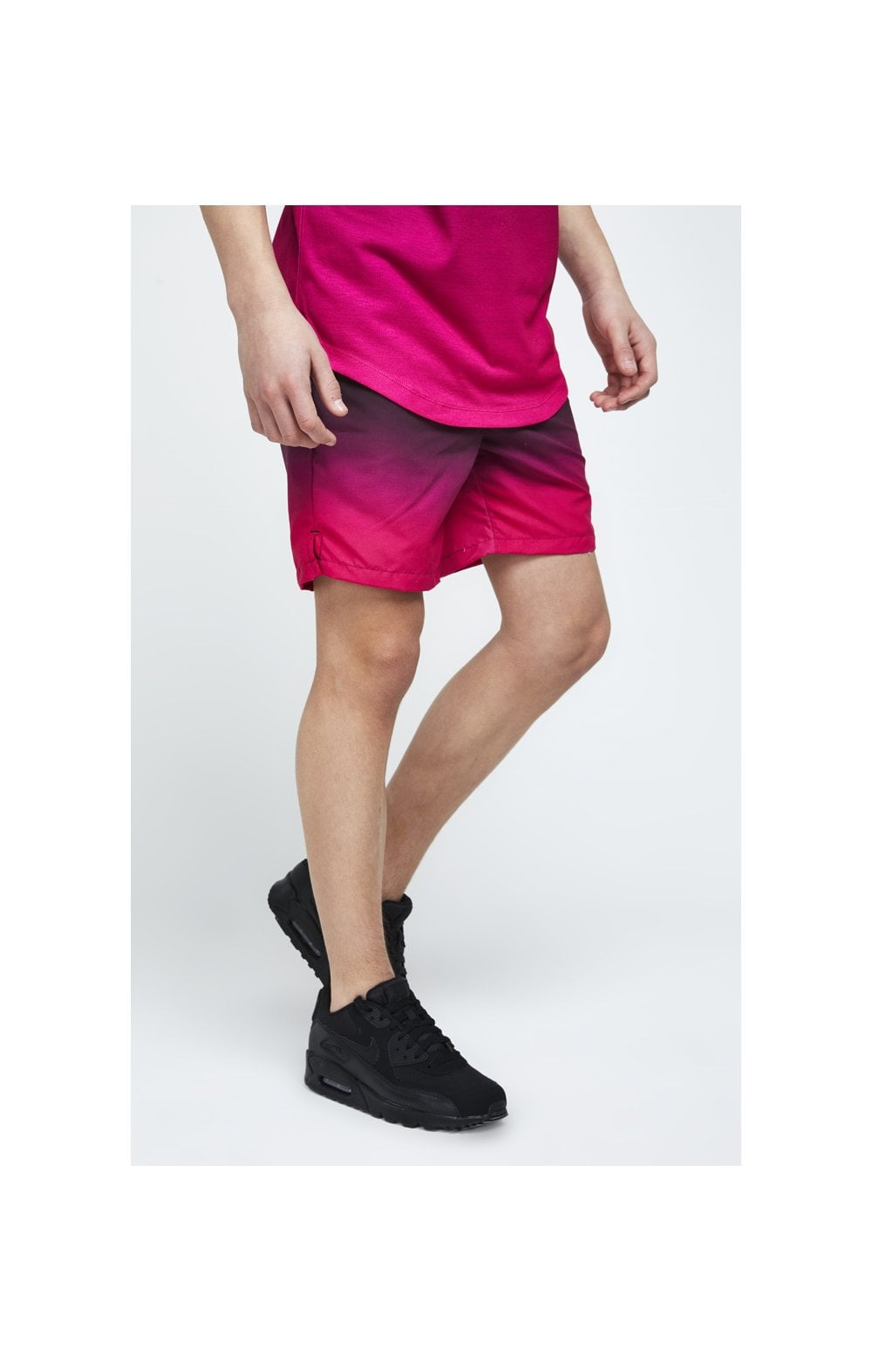 Load image into Gallery viewer, Illusive London Swim Shorts - Black & Pink (1)