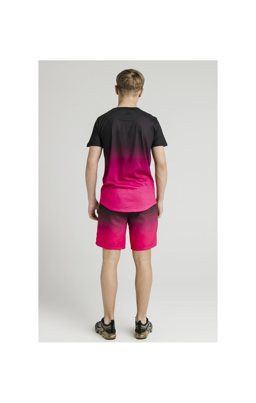 Load image into Gallery viewer, Illusive London Swim Shorts - Black & Pink (8)