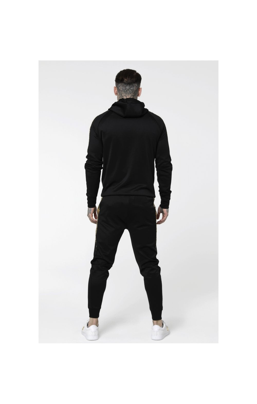 Load image into Gallery viewer, SikSilk Foil Fade Overhead Hoodie - Black & Gold (5)