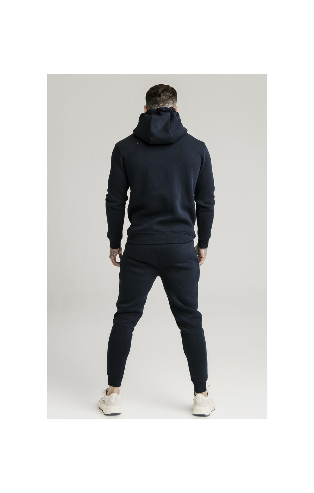 Load image into Gallery viewer, SikSilk Zip Through Funnel Neck Hoodie - Navy (6)