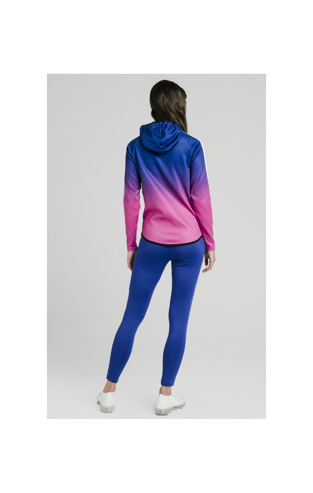 Load image into Gallery viewer, SikSilk Athlete Fade Zip Through Hoodie – Blue & Rose (6)