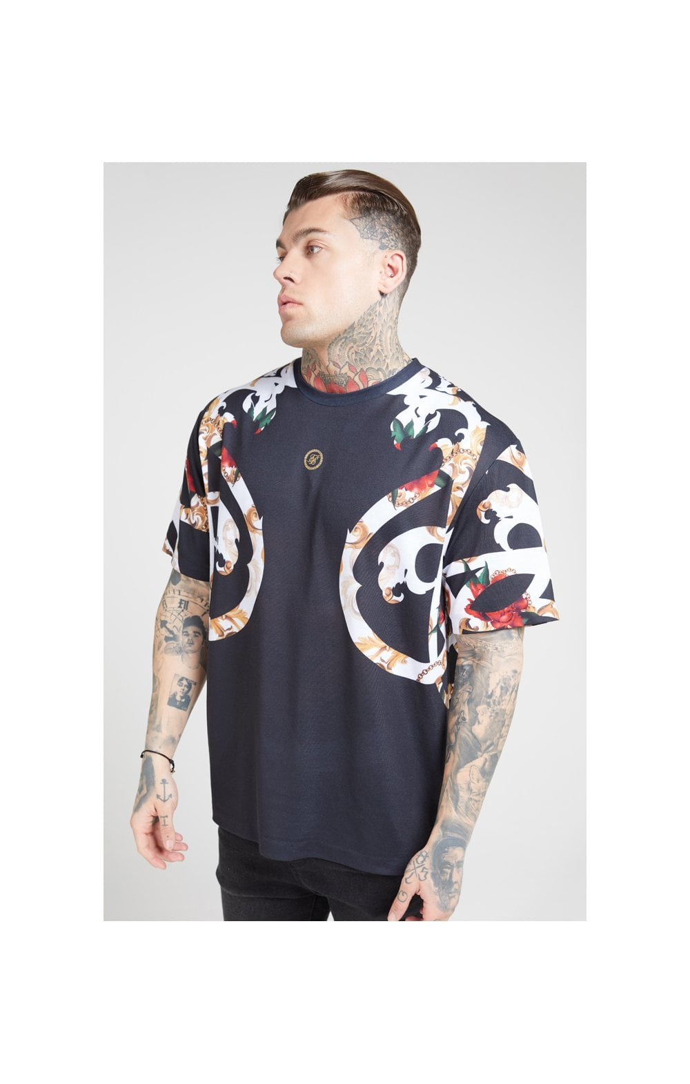 Load image into Gallery viewer, SikSilk Essential Tee - Floral Elegance (1)