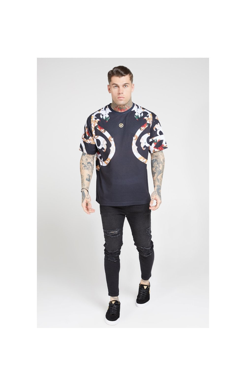 Load image into Gallery viewer, SikSilk Essential Tee - Floral Elegance (3)