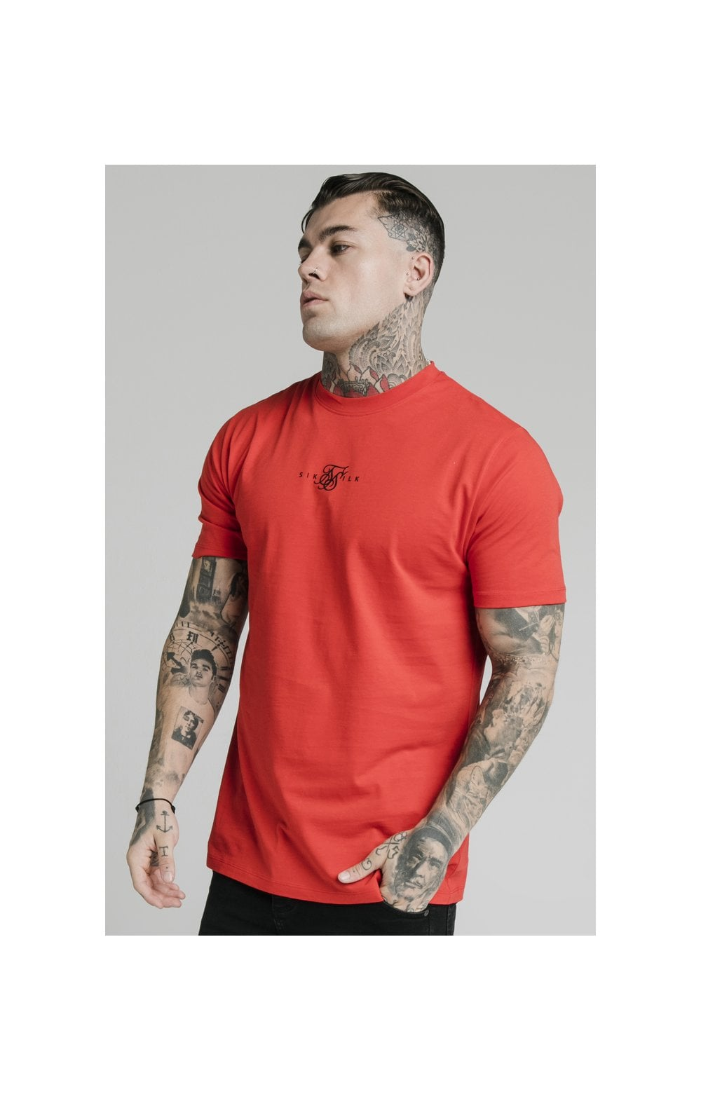 Load image into Gallery viewer, SikSilk S/S Square Hem Tee – Red