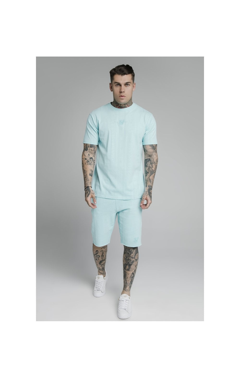 Load image into Gallery viewer, SikSilk Pastel Gym Shorts - Blue (3)
