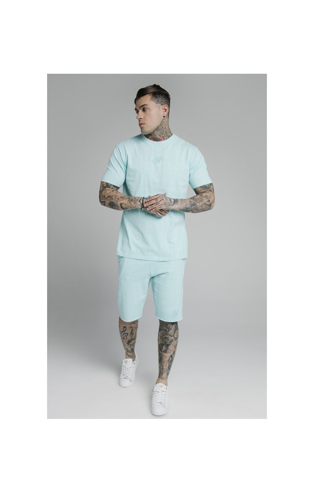 Load image into Gallery viewer, SikSilk Pastel Gym Shorts - Blue (5)