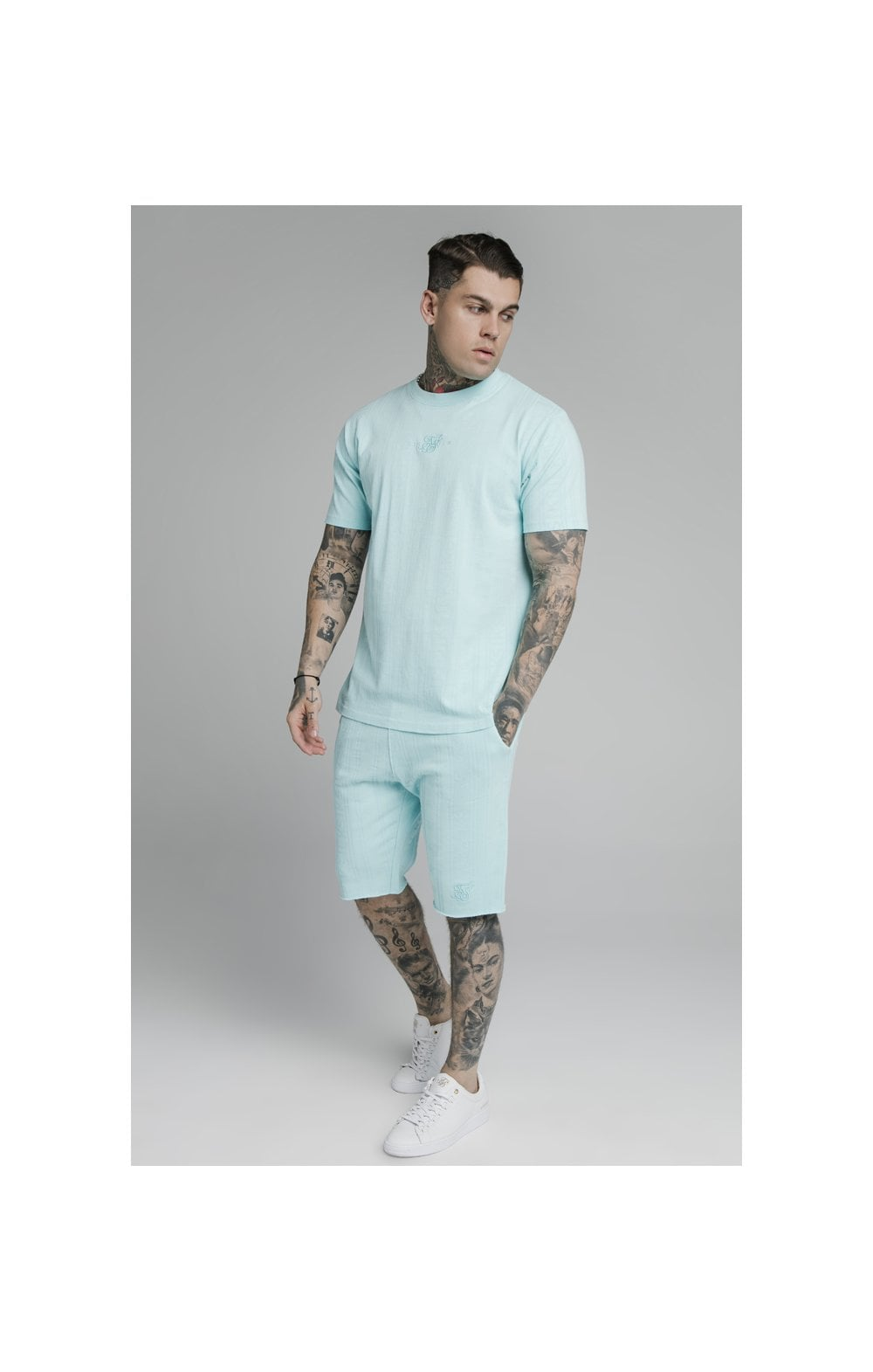 Load image into Gallery viewer, SikSilk Pastel Gym Shorts - Blue (6)
