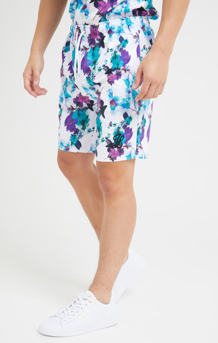 Illusive London Neon Floral Resort Swim Shorts - Neon Floral
