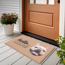 Personalized Pet Photo Doormat-Hello