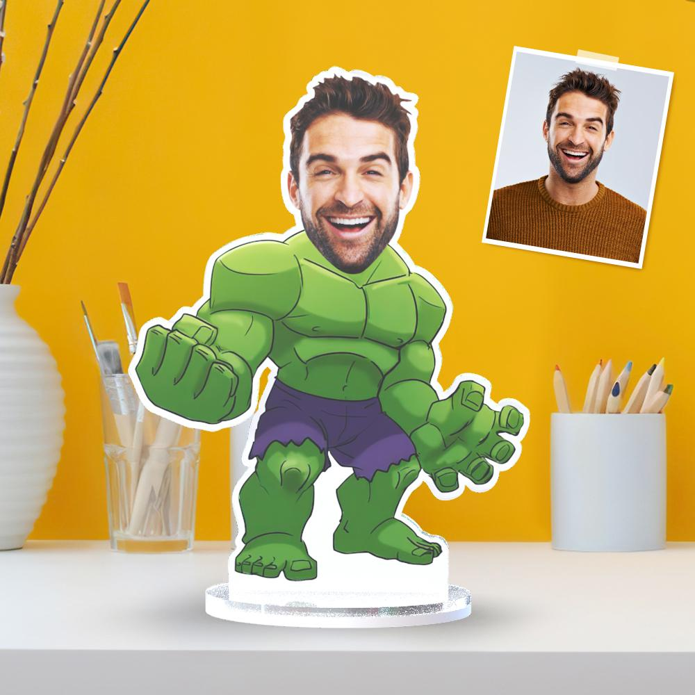 Custom Photo Plaque The Hulk Personalized Desktop Ornaments Funny Gifts