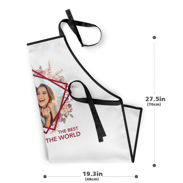 "Custom Kitchen Cooking Apron with Your Photo and ""The Best Cook in the World"""