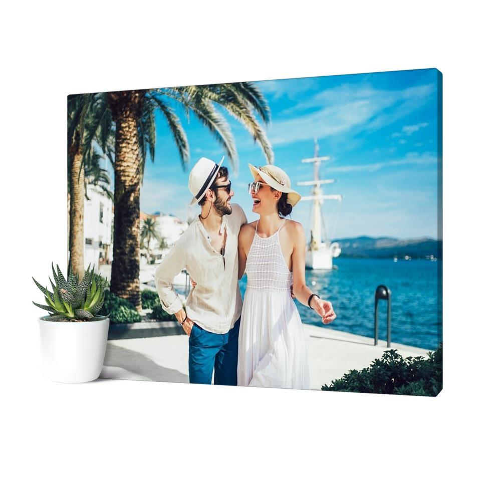 Custom Couple Photo Canvas Print Personalized Wedding Photo Anniversary Gift Valentine's Day