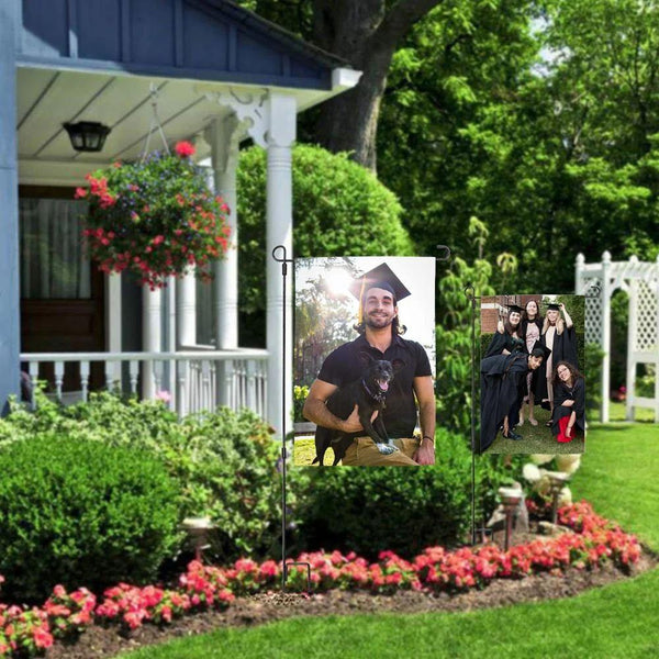 Graduation Gift of Outdoor Photo Garden Flag