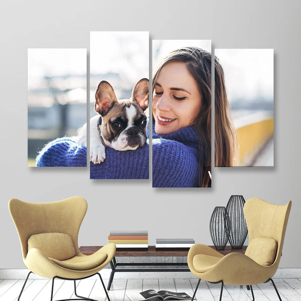 Custom Photo Wall Decor 4 Pcs Contemporary Canvas Print