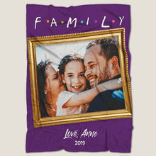 Family Together Personalized Fleece Photo Blanket with Text