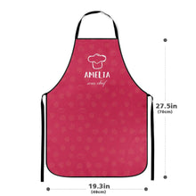 Custom Kitchen Cooking Apron with Name of Mother and Child Respectively Pack of 2