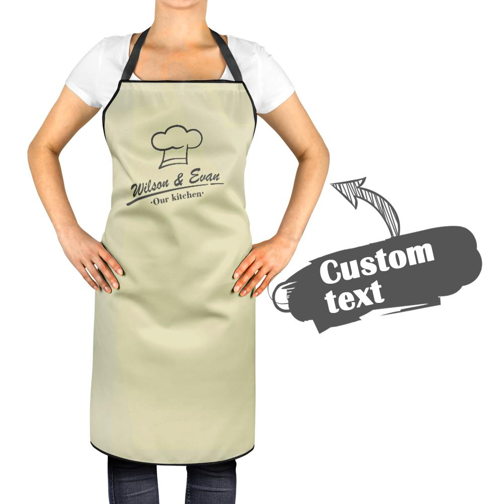 Custom Kitchen Cooking Apron with Names of You and Your Love