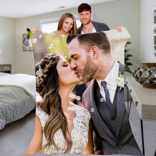 Custom Couple Photo Blanket Personalized Wedding Anniversary Photo Blanket Unique Gift
