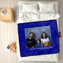 Family Love Personalized Fleece Photo Blanket