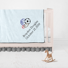 Children Name and Birth Date Personalized Blanket-Fox