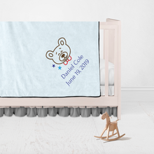 Children Name and Birth Date Personalized Blanket-Bear