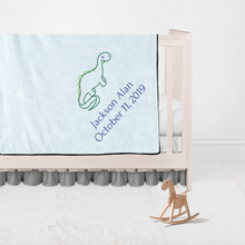 Children Name and Birth Date Personalized Blanket-Dinosaur
