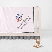 Children Name and Birth Date Personalized Blanket-Monkey