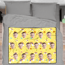Pride Personalized Fleece Photo Blanket - Yellow