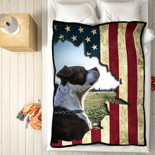 Independence Day Blanket Personalized Pet Photo Blanket Feelce Blanket