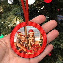 Custom Family Photo Christmas Tree Ornaments Gifts