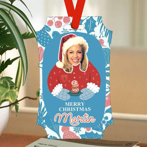Custom Photo Christmas Tree Ornaments Personalized Rectangle Ornaments Christmas Gifts For Her