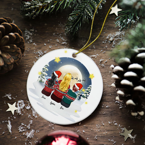 Custom Photo Christmas Tree Decor Personalized Ceramics Engraved Ornament Christmas Gift For Friend